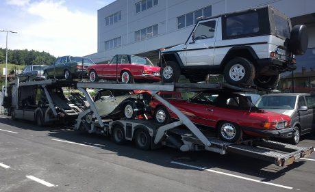 Transport naših vozil v Nemčijo