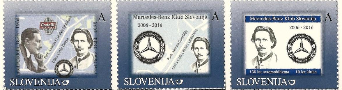 Avtor spominskih poštnih znamk je Andrej Vidmar.